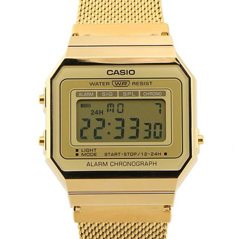 Casio Vintage Digital Classic Gold Watch A700WMG-9 A700WMG-9A