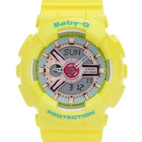Casio Baby-G Yellow Watch BA-110CA-9 BA-110CA-9A