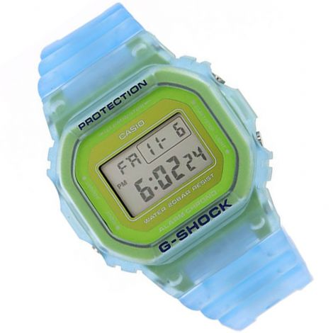 Casio DW-5600LS-2 DW5600LS-2 Semi Transparent Blue Watch