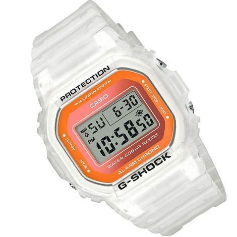 Casio DW-5600LS-7 DW5600LS-7 Semi Transparent White Watch