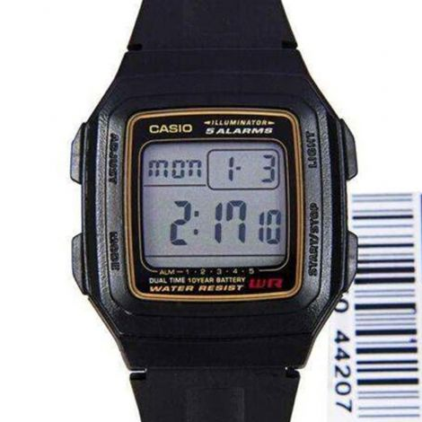 Casio Dual Time Digital Watch F-201WA-9A F-201WA-9ADF
