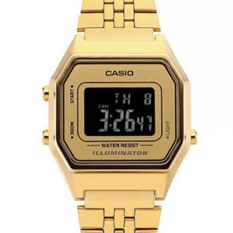 Casio Vintage LA680WGA-9B LA680WGA-9BDF Digital Gold Youth Watch