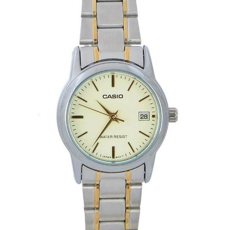 Casio Enticer Ladies Two Tone Watch LTPV002SG-9 LTP-V002SG-9A
