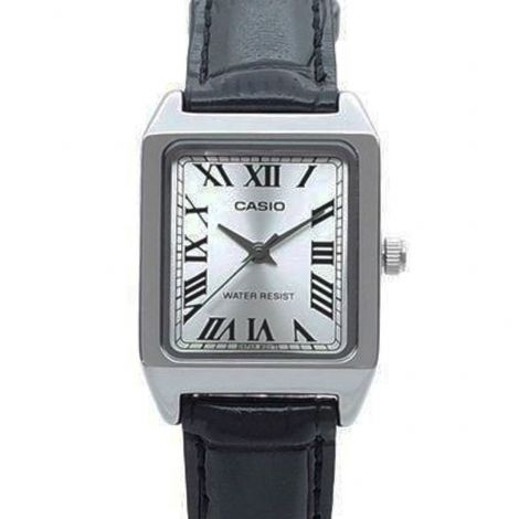 Casio LTP-V007L-7B1 LTPV007L-7B1 Leather Rectangle Watch
