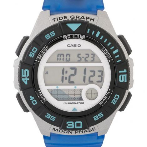 Casio Youth Blue Translucent Digital Watch LWS-1100H-2A LWS-1100H-2AV