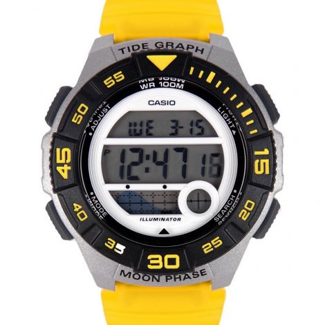 Casio Youth Yellow Dual Time Digital Watch LWS-1100H-9A LWS-1100H-9AV