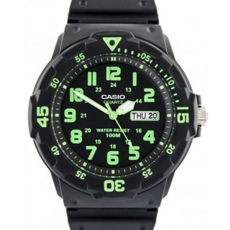Casio Black Green Standard Analog Watch MRW-200H-3B MRW-200H-3BV