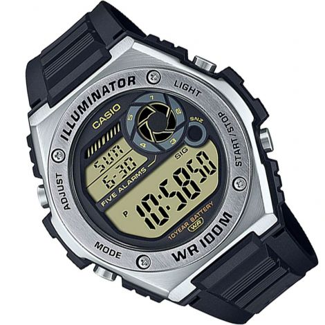 Casio MWD-100H-9AV MWD100H-9A Digital Dual Time Watch