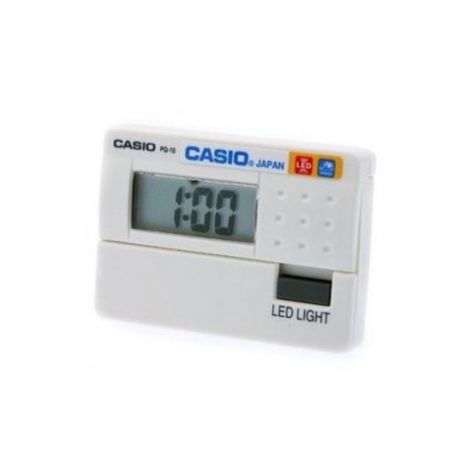 Casio Digital Beeper PQ-10-7R PQ10-7R Travelers Alarm Clock White Resin