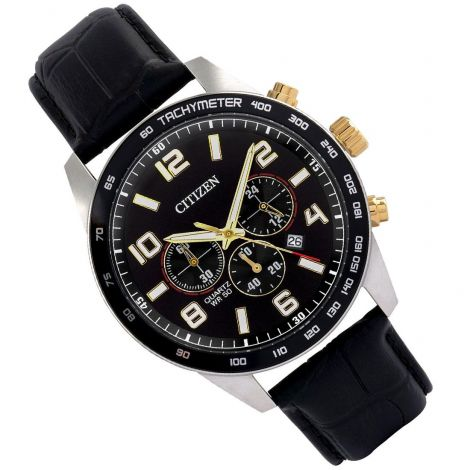 Citizen AN8166-05E Chronograph Leather Mens Watch