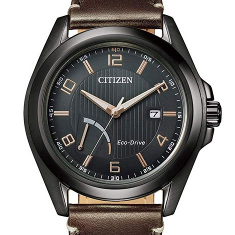 Citizen AW7057-18H Male Leather Solar Watch