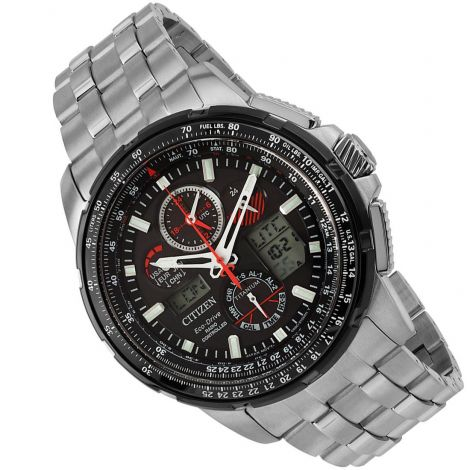 Citizen JY8069-88E Eco-Drive Titanium Dual Time Watch