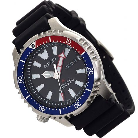Citizen NY0088-11E Automatic Pepsi Bezel Watch