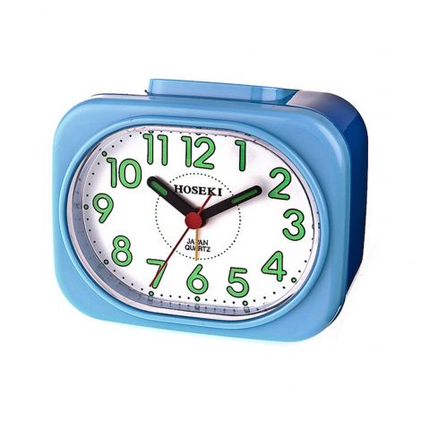 Hoseki H-9053BU/W H-9053 Japan Quartz Analog Alarm Clock