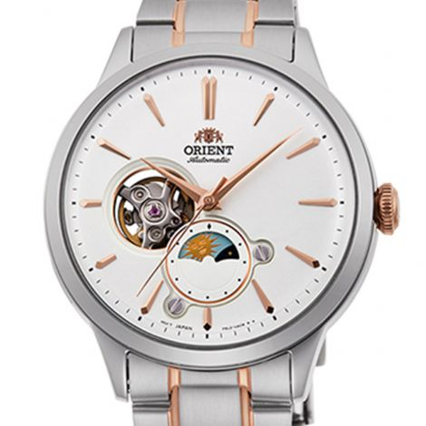Orient RA-AS0101S RA-AS0101S10B Sun Moon Open Heart Watch