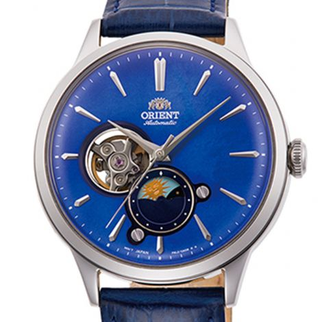 Orient RA-AS0103A RA-AS0103A10B Sun Moon Leather Watch