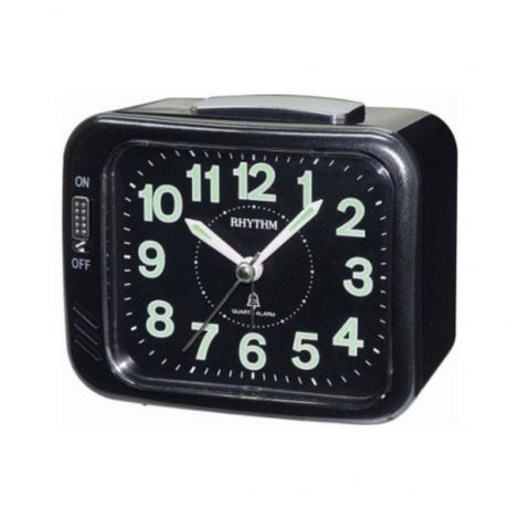 Rhythm CRA829NR02 Black Analog Bell Alarm Clock