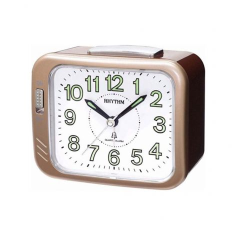 Rhythm CRA829NR13 Brown Analog Bell Alarm Clock