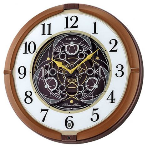 Seiko QXM380B QXM380BT QXM380-B Musical Brown Wall Clock