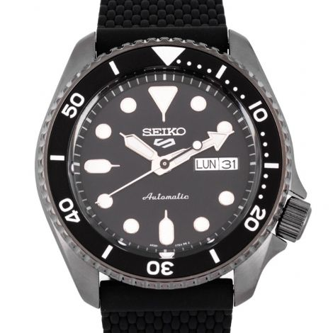 Seiko SRPD65K2 SRPD65 SRPD65K Silicone Sports Watch