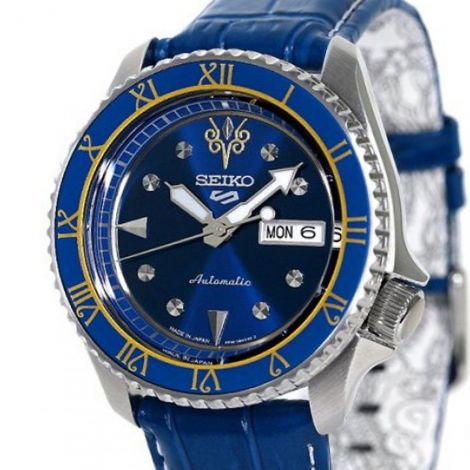Seiko 5 Sports Chun-Li Street Fighter Blue Watch SBSA077