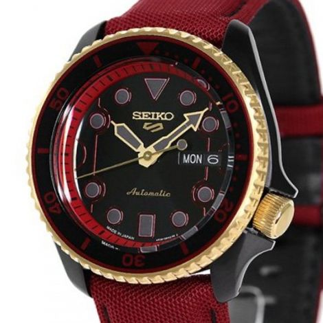 Seiko 5 Sports Ken Street Fighter Red Watch SBSA080