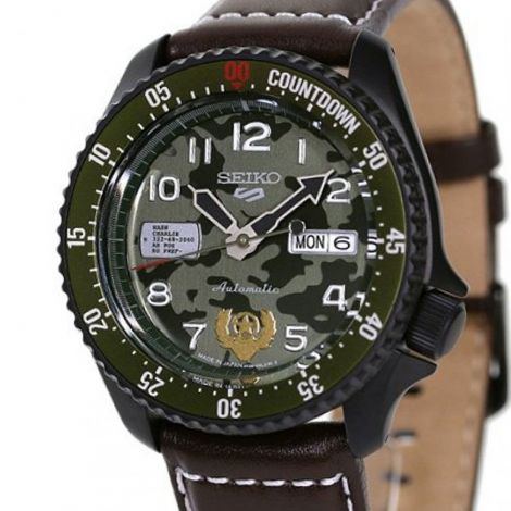 Seiko 5 Sports Guile Street Fighter Camouflage Watch SBSA081
