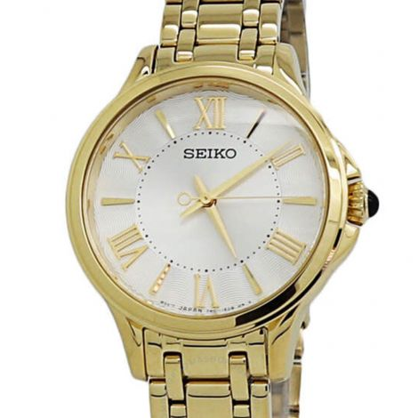 Seiko Quartz Ladies SRZ528P1 SRZ528 SRZ528P Gold Watch