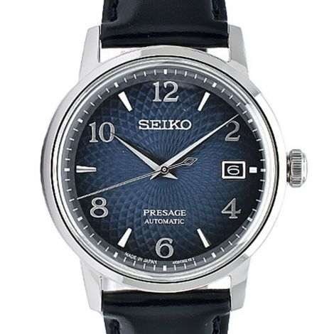 Seiko SRPE43J1 SRPE43 SRPE43J Presage Leather Watch